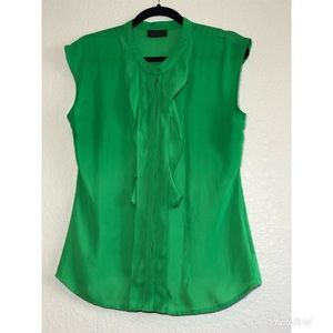 Worthington green sleeveless blouse